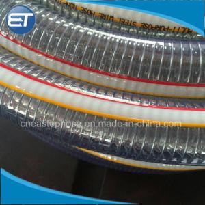 補強された水油圧産業排出のホースのためのPVC鋼線