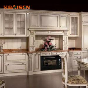2018 armário de cozinha em madeira maciça para Country House