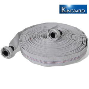 Manguera de descarga de agua de lienzo de revestimiento de PVC manguera contra incendios