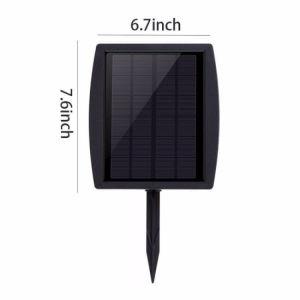 indicatore luminoso di lampadina impermeabile esterno di energia solare del giardino 2W dell'iarda del sensore luminoso dell'indicatore luminoso con il punto di messa a terra