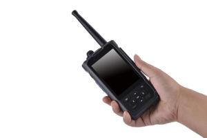 4G telefone Ptt Com duplo SIM & câmara dupla, Mtk Marcação Android5.1 GPS Rádio/Walkie Talkie PTT com DMR e Função de UHF IP67