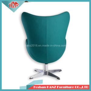 현대 디자인 섬유유리 직물 계란 로비 여가 그네 계란 공 의자