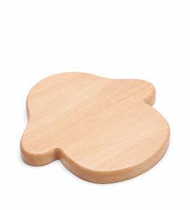 Plateau en bois de hêtre écologique Cartoon Kid's finition naturelle de la plaque d'aliments