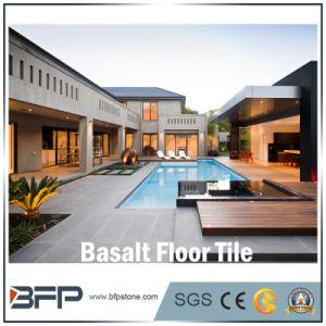 Mosaico de pedra polida natural de basalto Floor/Flooring/escadas/parede/casa de banho em mosaico de cozinha