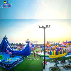 Professional inflables gigantes inflables parque acuático Aqua Adventure Parque acuático flotante para el alquiler comercial