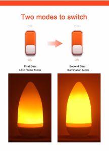 As vendas directas de fábrica 3W E27/E26/E14/E12/B22 LEDs 2835-40chama chama Lâmpada Lâmpada LED