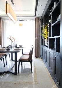 Современные цельной древесины книги Sellf и обеденный стол в отель - апартаменты комната