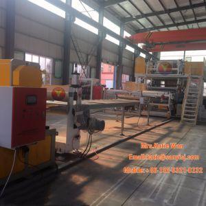 Der Plastik-Belüftung-WPC Bodenbelag-Verdrängung Vinylpanel-/-planke-/-vorstand-/-blatt-/-fliese-Bodenbelag-Produktions-Maschinerie-SPC/Strangpresßling/Extruder, der Maschine herstellt