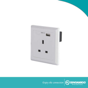 Toma de pared USB Sinoamigo con BS y toma de corriente cargador USB