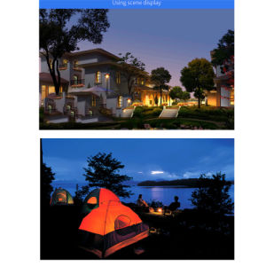 Solar Wall Lamp Outdoor Night Light Jardin étanche de lumière LED lampe du capteur de mouvement IRP