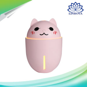 humidificador ultrasónico de dibujos animados multifunción Difusor de aceites esenciales con mini ventilador y luz LED