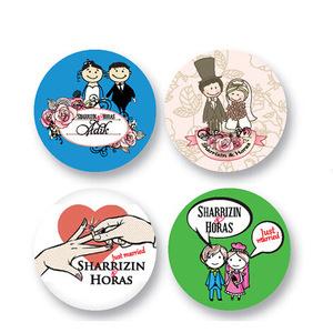 カスタム昇進のギフトのVelboaの刺繍または印刷ボタンのバッジ(015)