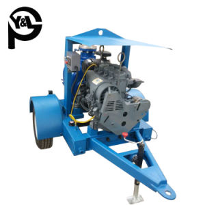6インチのディーゼル機関の自動プライミング遠心下水の水処理ポンプ