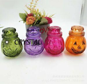 De kleurrijke Houder van de Kaars van het Glas met Glas Verzegeld GLB