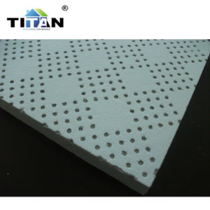 Panneau de plafond acoustique en fibre minérale
