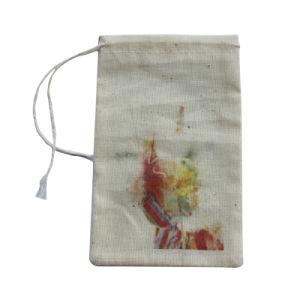自然なドローストリングの綿のショッピング袋の習慣の印刷の再生利用できる袋