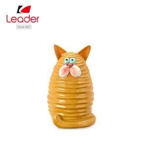Beeldje van de Kat van de Omheining van de Hars van de fabriek het Directe Verkopende voor het Decor van de Tuin