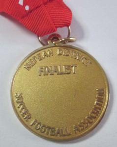 Großhandelsmetallandenken-Goldswim-Ski-Läufer-Sport-Medaille (088)