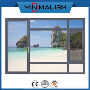 Fenêtre à battant en aluminium 1,4 mm/porte avec verre clair pour la construction