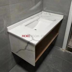 Кухня стендовых и зеркала в противосолнечном козырьке в ванной комнате искусственного кварца белого камня