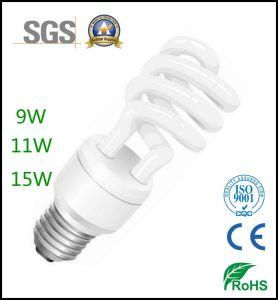 Lampadine economizzarici d'energia a spirale mezze approvate CFL del Ce