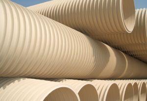 PVC ligero de tubo de drenaje de PVC-U tubos de cartón ondulado de doble pared