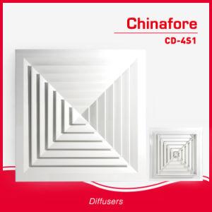 Verspreider van de Lucht van de Ventilatie van de Airconditioning van het Plafond van de levering HVAC de Vierkante CD-4s1/CD-4s2/CD-4s4