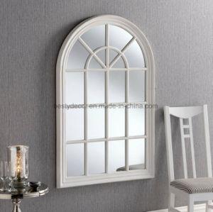 Châssis de fenêtre de plancher en bois d'arche Mur miroir