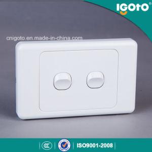 Как304 Новая Зеландия стандарта 10A 2 токопроводящей дорожки 2 двухпозиционный переключатель