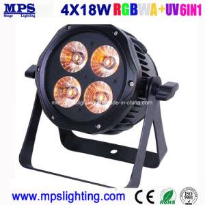 DJの照明、段階の照明のための屋外のディスコの照明LED同価ライト4*18W Rgbwauv