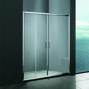 Frame di alluminio 6mm Tempered Glass Shower Door (SR9L011)