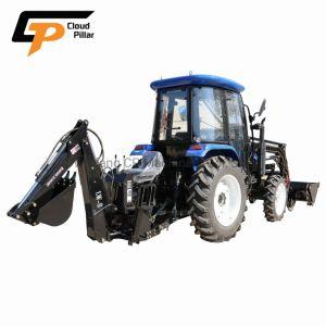 Maquinaria Agrícola de China Foton Weichai Lovol 70Cv 4X4 4WD nuevo Mini Compacto montado en el tractor agrícola Cargador Frontal y Retroexcavadora Precio de Venta