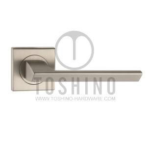 Cerradura de puerta de aleación de zinc Tirador de rosetas cuadradas (153.12370)
