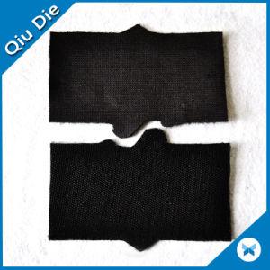 Fieltro suave de fondo de Tela bordado del logotipo de parches de velcro.