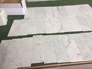 イタリアCarrera白い4X12 大理石のタイル