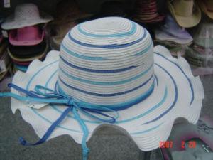 Papel de dama sombrero de paja (D-223-3)