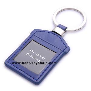 승진 집 모양 사진 Grame 진짜 가죽 열쇠 고리 (BK21020C)