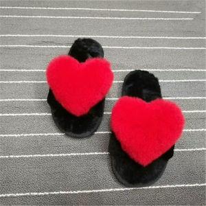 Mode sandale en plastique en caoutchouc de la fausse fourrure lapin Slipper