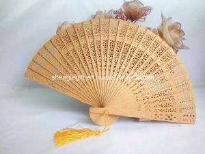 Regalos promocionales logotipo grabado Abanicos de madera