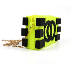 Customizable 휴대용 숙녀 Colorful Silicone Shoulder Handbag