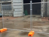 販売のための熱浸された電流を通された一時チェーン・リンクの塀のパネル