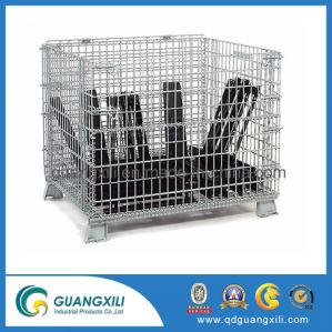 Stapelbarer gefalteter Draht-Speicher-Ladeplatten-Behälter