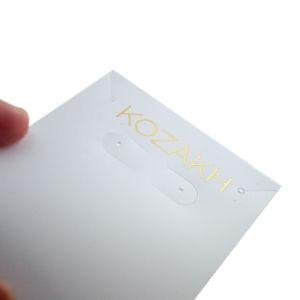 PVC 귀걸이 보석 걸림새 꼬리표를 인쇄하는 금