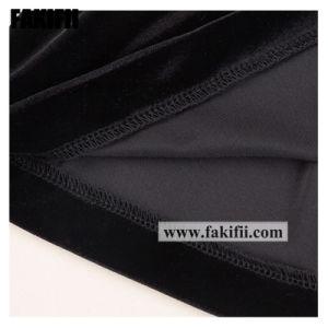 Nouvelle conception de l'hiver/Automne personnalisés Vêtements de Noël des enfants Vêtement pour bébé fille dentelle robe en velours noir