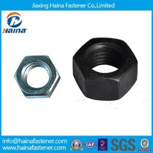 En acier au carbone Standard HDG mince les écrous hexagonaux/Bleu d'écrous hexagonaux plaqué zinc blanc/noir d'écrous hexagonaux