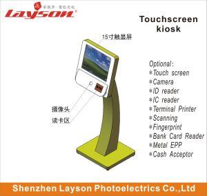 Plancher de 43 pouces de la publicité permanent Media Player LED/LCD écran HD de signalisation numérique moniteur à écran tactile Kiosque Le projet de loi Paiement par carte bancaire le kiosque de terminal en libre service