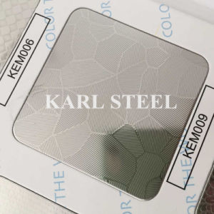 Hoja realzada en frío 304 del color del acero inoxidable