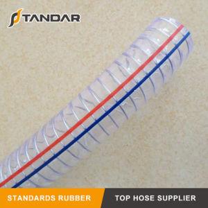 Vida longa Anti-Static espiral de PVC flexível de borracha do fio de aço