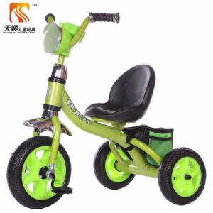 Trois roues du châssis en métal et plastique fauteuil tricycle pour enfants