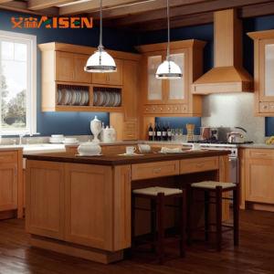 De Amerikaanse Houten Keukenkasten van de Ontwerpen van de Stijl Eenvoudige voor Kleine Keukens